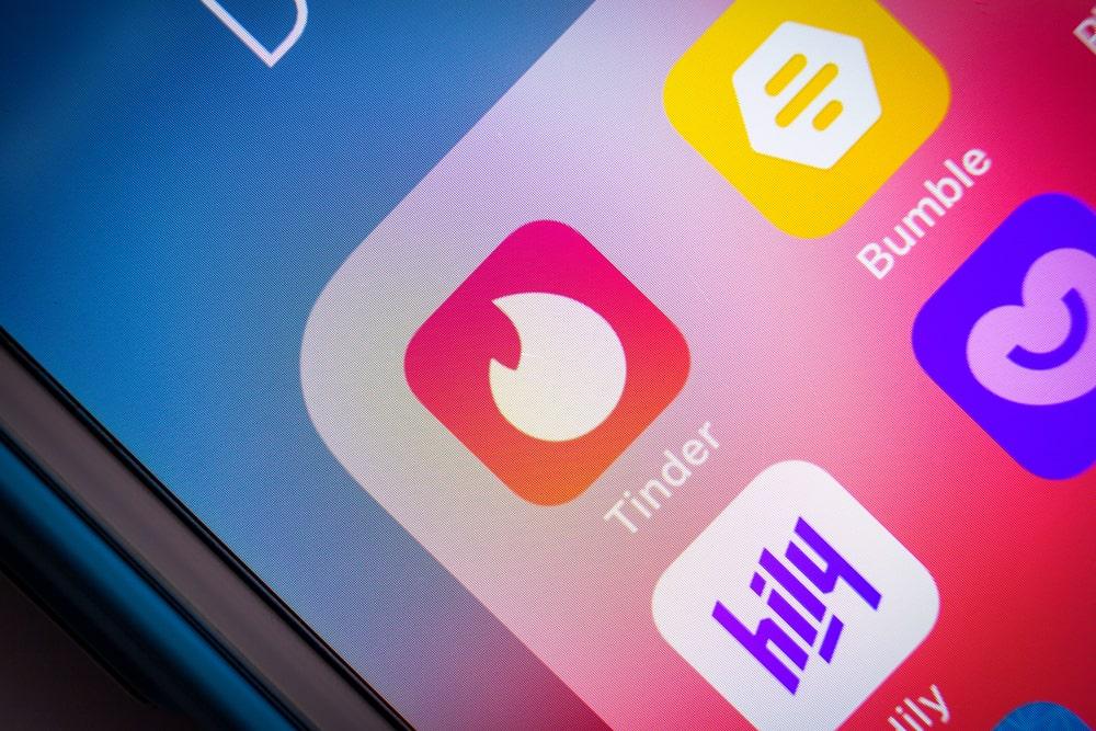 l'application tinder sur mobile