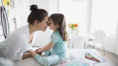 Calendrier standard des visites d'enfants pour les parents