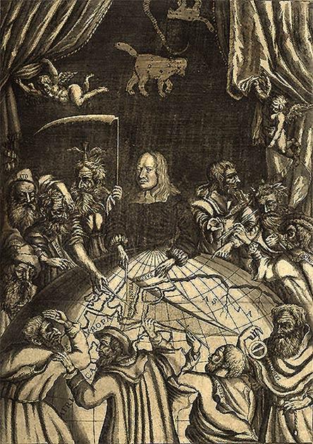 Une œuvre d'Olof Rudbeck du XVIIe siècle disséquant le monde et révélant l'