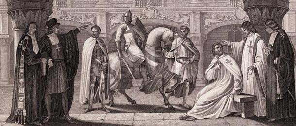 Membres des Templiers en discussion.