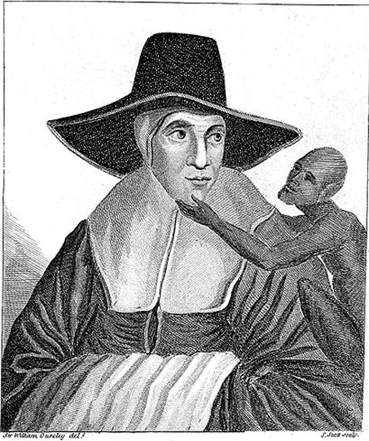 Une image que l'on dit être un portrait de la mère Shipton.