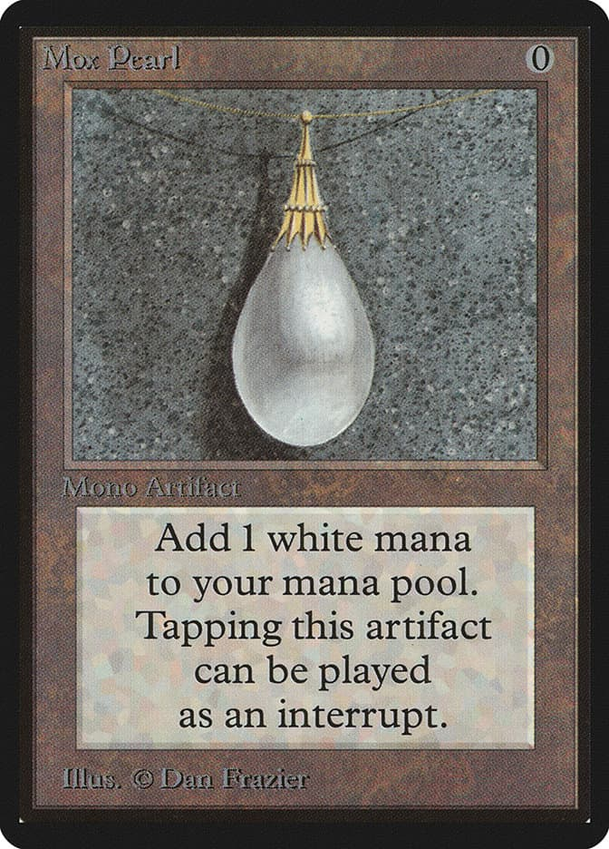 Les cartes MTG les plus chères - Mox Pearl