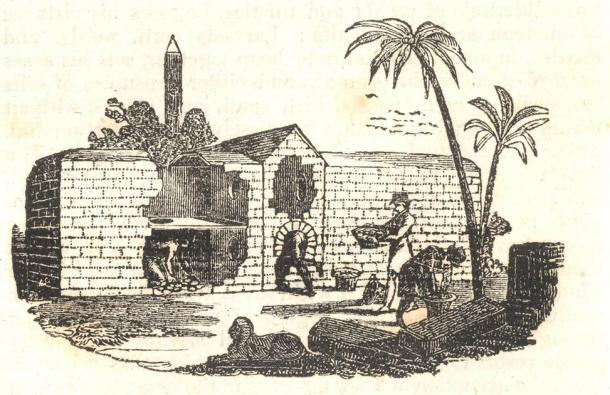 Dessin d'un four à œufs égyptien de 1833. (The Penny Magazine / Domaine public)