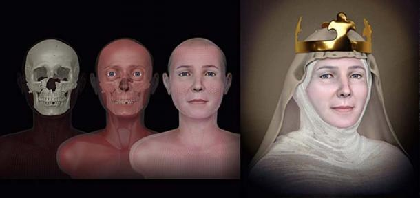 La reconstruction faciale de la reine Judith de Thuringe - un projet organisé par l'archéologue Jiri Sindelar. Source : Cicero Moraes / CC BY-SA 4.0.