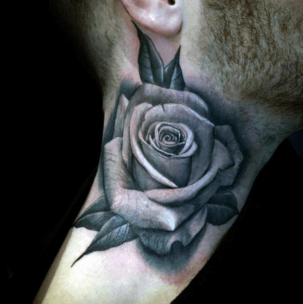 nextluxury realistic 3 tatouages de cou de rose
