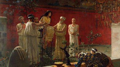 The high priestess, Oracle of Delphi, Pythia