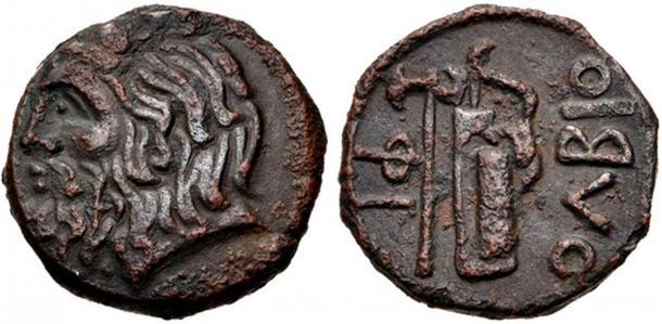 Cette pièce d'Olbia, datant d'environ 310-280 avant J.-C., semble avoir l'image de l'arc scythe. (CC BY-SA 3.0.