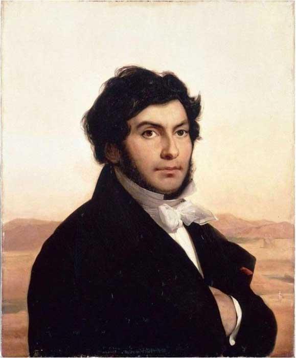 Portrait de Jean-François Champollion par Léon Cogniet (domaine public)