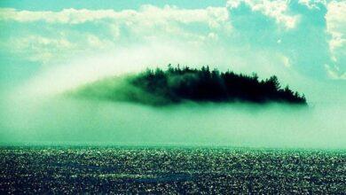 Strange Island in Fog