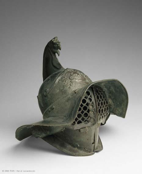 Le casque d'un gladiateur thrace, le Louvre. (Image : © RMN, Musée du Louvre)
