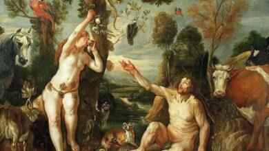 Adam and Eve (1640s) by Jacob Jordaens.