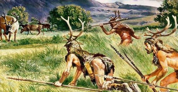 Impression d'artiste sur les chasseurs préhistoriques.