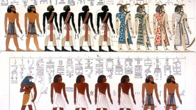 From Giovanni Battista Belzoni: Egyptian race portrayed in the Book of Gates.