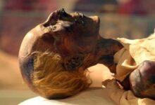 The mummified body of Egyptian Pharaoh Ramses the Great.