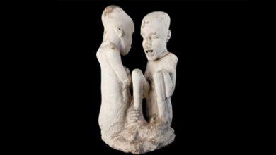 The Starving of Saqqara sculpture.