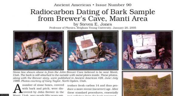 Datation au carbone de la boîte d'écorce trouvée dans la grotte de Brewer. (The Brewer Cave / Facebook)