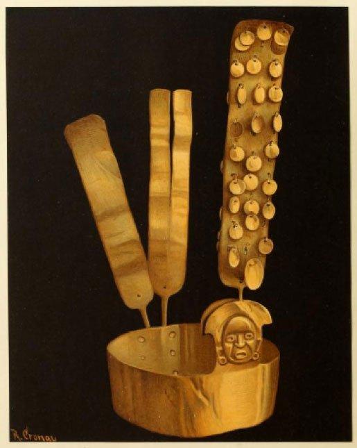 Couronne en or de Sigsig. Crédit photo : R. Cronav pour le Musée des Indiens d'Amérique