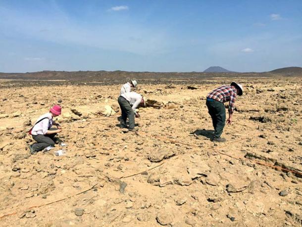 Le site où la plupart des artefacts en pierre de Wadi Dabsa ont été trouvés. Le site fait maintenant partie d'un désert aride. Il avait autrefois un climat plus humide qui favorisait la faune et la flore.