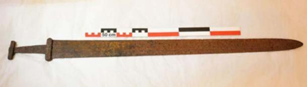 L'épée viking, datée d'environ 850-950 après J.-C.