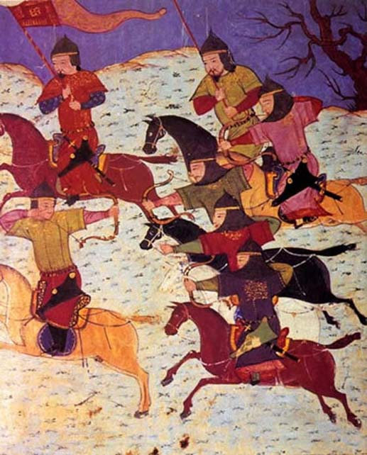 Cavaliers mongols.