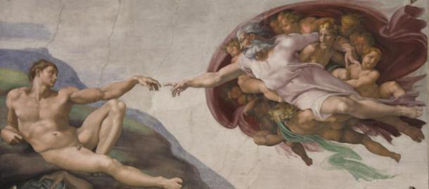La création d'Adam (1511), Michel-Ange