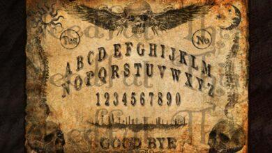 An antique Ouija board