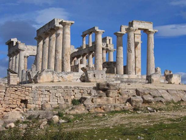 Temple d'Aphaia sur l'île d'Egine près d'Athènes, Grèce. (Coureur1928/CC BY SA 4.0)