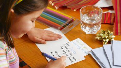 Faire en sorte que votre enfant écrive des notes de remerciement
