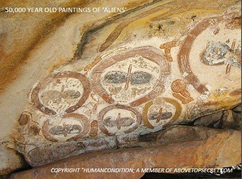 Wandjina - Aborigènes - Extraterrestres