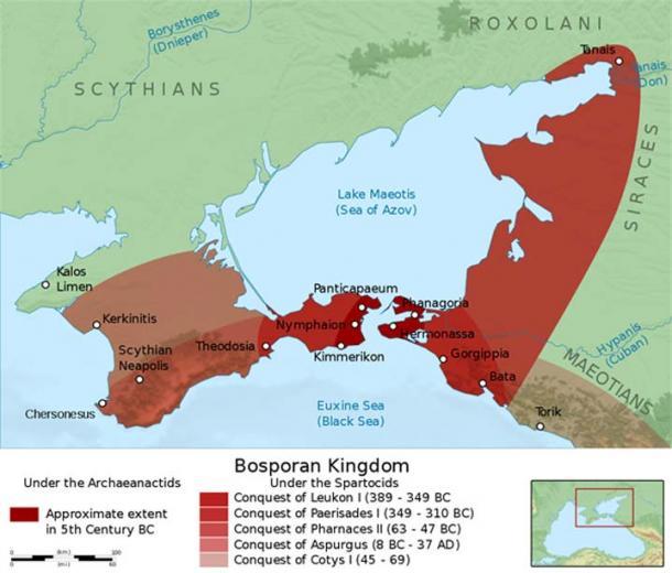 Localisation du Royaume de Bosphore. (CC BY-SA 4.0)