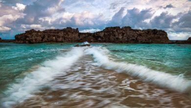 Les magnifiques routes de l'île de Golden Sand
