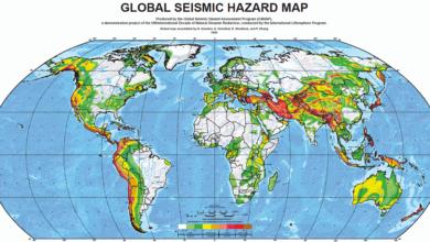 Principales zones sismiques dans le monde