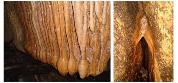 Formations géologiques dans les grottes de Tayos à Tayu Jee. Crédits photos : l'auteur (2016).