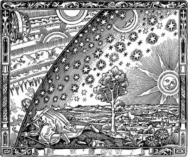 Les gnostiques pouvaient voir à travers l'illusion. La gravure Flammarion, Paris 1888